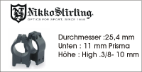 Nikko Stirling 11 mm  - 25,4mm-High